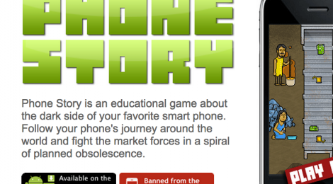 Website for the game Phone Story.